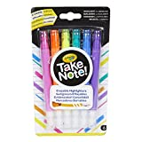Crayola Take Note Chisel Tip Erasable Highlighters, Age 6+ - 6 Count, Assorted