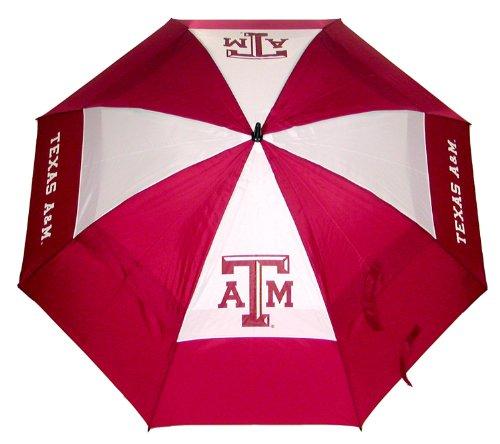 Team Golf NCAA 157,5 cm Golf-Regenschirm mit Schutzhülle, doppelter Baldachin, Windschutz, automatischer Öffnungsknopf, Texas A&M Aggies