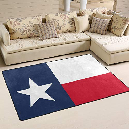 Ainans Flag of Texas State Area Rug Carpet Non-Slip Floor Mat Doormats for Living Room Bedroom 31 x 20 inches