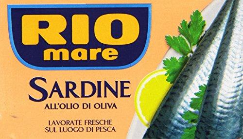Rio Mare - Sardine all Olio di Oliva, Ricche di Omega 3, 1 Lattina da 120g