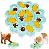 NALCY Comedero Perro Gato, Rompecabezas Inteligente para Mascotas Puppy Puzzle Toys Juguetes Interactivos