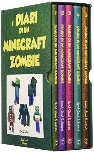 Diario di un Minecraft Zombie: Una sfida da paura-Lo spaventabulli-Il richiamo della natura-Scambio di zombie-Panico a scuola: 1-5: Vol. 1-5