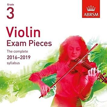 Violin Exam Pieces 2016 - 2019, ABRSM Grade 3