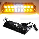Anzene Luz LED de 54 luces estroboscópicas intermitentes Luces estroboscópicas de emergencia Luces estroboscópicas de vehículos para la parrilla del tablero del parabrisas (Amarillo)