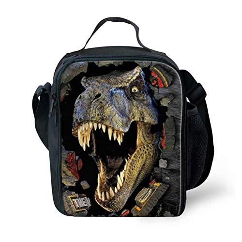 POLERO Lunchtasche Mittagessen Tasche Picknicktaschen Lunch Tote Lunch Box Lunch Bag Kühltasche mit Tyrannosaurus Rex Dinosaurier Print
