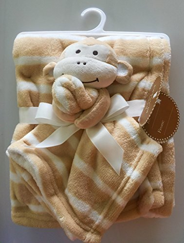 Two piece Monkey Baby Blanket