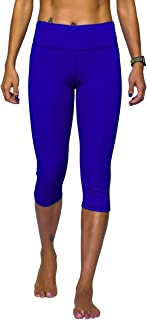 Nonwe Women's Sports Capri Quick Dry Stretch with Zipper Pocket