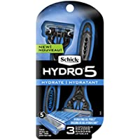 3 Count Schick Hydro 5 Disposable Razors for Men