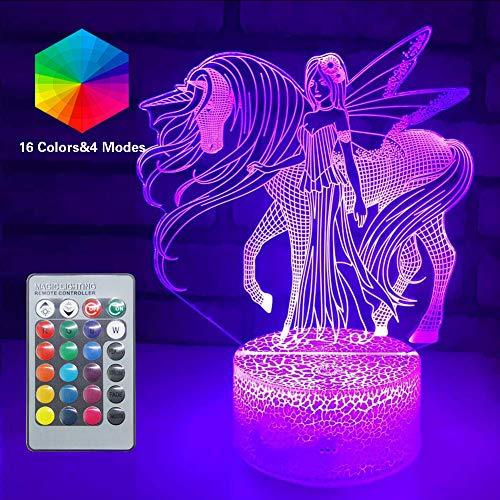 3d Einhorn Illusion Lampe 16 Farben Optische Led Nachtlicht Schreibtisch Led Touch Tischlampe Spielzeug 3d Lampe Mädchen Junge Kinder Für Geburtstag Urlaub Weihnachten
