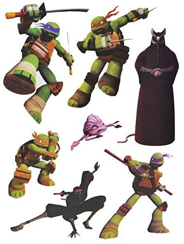 alles-meine.de GmbH 7 TLG. Set Fensterbilder - Teenage Mutant Ninja Hero Turtles - Sticker Fenstersticker Aufkleber - selbstklebend + wiederverwendbar - Fensterbild / z.B. für Fe..