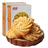 南国 饼干零食 椰子曲奇饼干105g*2盒