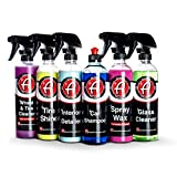Adam's Chemical Arsenal Builder 6 Piece Kit - Essential Vehicle Detailing Chemicals to Wash, Wax, and Protect...