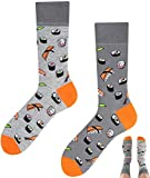 TODO COLOURS Casual Mix und Match Sushi Socken mehrfarbige, verrückte, bunte Socken (43-46, Sushi)