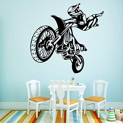 wZUN Motorrad Wandaufkleber Moderne Mode Kühlschrank Aufkleber Wandaufkleber Vinyl Aufkleber 45x46cm