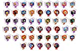 Disney Infinity Original 1.0 Power Disc Series 1, 2, & 3 Complete Standard 50 Disc Collection