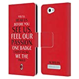Official AC Milan Typography Art Leather Book Wallet Case