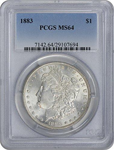 1883 Morgan Silver Dollar MS64 PCGS