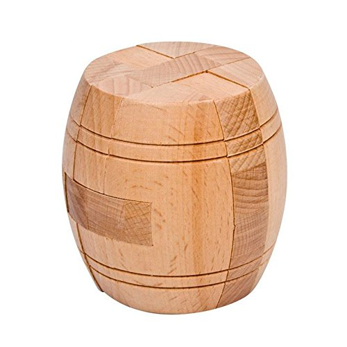 Ahyuan Handmade Powder Barrel Wooden Puzzles for Adults an Interlocking 3D Brain Teaser Puzzles for Adults Hidden Passage Works on a Classic Mechanical Puzzle Concept