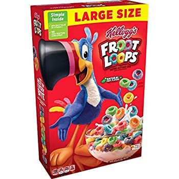 Kellogg s Froot Loops Breakfast Cereal Original Excellent Source of Vitamin C Large Size 14.7oz Box
