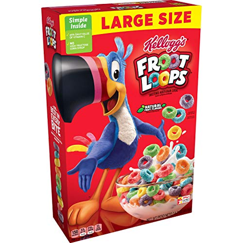 Kellogg's - Froot Loops LARGE SIZE (cereales americanos) - 1 x 417 gramos
