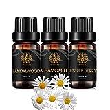 Aromaterapia baya de enebro aceite esencial set para difusor,3x10ml 100% puro sándalo aceite esencial Kit para humidificador-manzanilla,bayas de enebro,sándalo aceites,aromaterapia manzanilla aceites