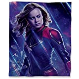 ARYAGO Avengers Infinity War - Manta de felpa (180 x 230 cm), diseño de Capitán Marve