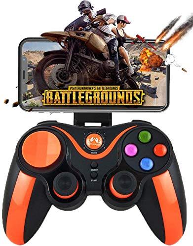 Game Joystick Controller, Gamepad Wireless Gamepad voor Android/iOS/iPhone/iPad, Key Mapping, schieten Vechten Racing Game, Orange