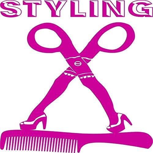 Wandaufkleber Für Kinderzimmer New Hair Styling English Words Wandaufkleber Beauty Salon Verwendung Mit Scheren Wandbilder Shop 60X92Cm