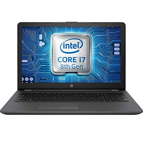 HP 250 G7 15.6-inch Laptop, Intel Core i7-8565U, 16 GB RAM, 256 GB SSD, DVD+RW, Windows 10 PRO