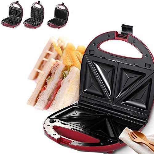 3 in 1 wafelijzer RVS Sandwichmaker Panini Press Roosteren Grillen omeletten Broodrooster voor Household Kitchen