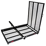 ALEKO MC500 500 Pound Capacity Wheelchair and Power Scooter Folding Cargo Carrier Rack with Foldable Ramp