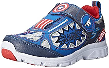 Stride Rite Avengers Captain America Light-up Athletic Shoe (7.5W (Toddlers)) Navy