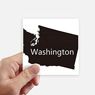 DIYthinker Washington The United States Map Square Stickers 10cm Wall Suitcase Laptop Motobike Decal 8pcs 4 inch x 4 inch(10cm x 10cm)