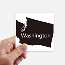 DIYthinker Washington The United States Map Square Stickers 10cm Wall Suitcase Laptop Motobike Decal 8pcs 4 inch x 4 inch(10cm x 10cm)