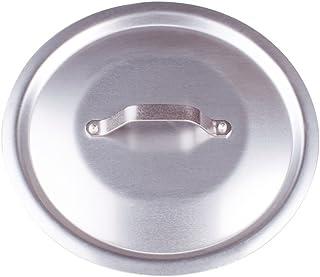 Pentole Agnelli ALMA12924 Tapa Redonda Pesada con Puente, Aluminio Profesional 3 mm, 24 cm, Acero Inoxidable