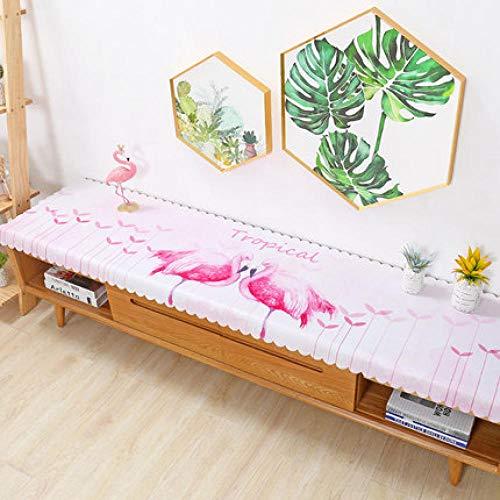 Traann plastic tafelkleden schoon te vegen, Square Wipe Clean tafelkleed Vinyl PVC TV kast deksel doek woonkamer flamingo 50*200