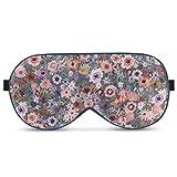 Alaska Bear Natural Silk Sleep Mask, Blindfold, Super Smooth Eye Mask (Floral)