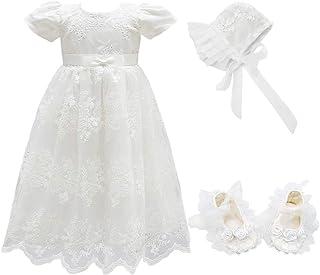 فستان للبنات الصغار من Glamulice فستان التعميد على شكل زهرة لحفلات رسمية فساتين المناسبات الخاصة للأطفال الصغار