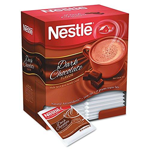 Nestlé Mezcla de cacao instantáneo, Chocolate negro, 0,71 oz, 50/caja - vendido como 1 caja - rico