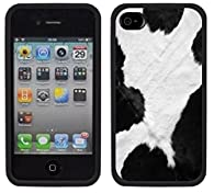black and white cow print iphone case