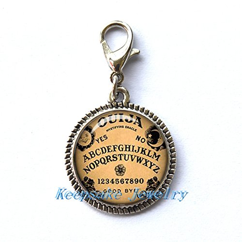 Ouija Board Zipper Pull, Perfect for Necklaces, Bracelets , keychain and earrings Charm planner charm Ouija Board handmade Jewelry
