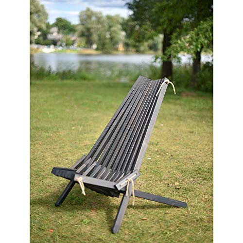 Solid Pine Garden Lounge Chair (Taupe Grey)