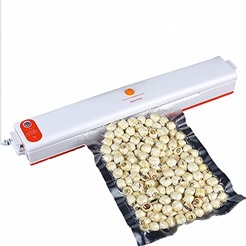 ZXAOYUAN Sellador de vacío, máquina de Embalaje de la máquina del sellador de vacío de Alimentos portátil para la conservación de Alimentos, Sistema de Sellado automático con Bolsas, diseño Compacto