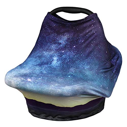 Nursing Cover Breastfeeding Scarf - Baby Car Seat Covers, Infant Stroller Cover, Carseat Canopy for Girls and Boys by YOOFOSS (Starry Sky)