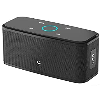 Bluetooth Speakers DOSS SoundBox Touch Portable Wireless Bluetooth Speakers with 12W HD Sound and Bass IPX5 Waterproof 20H Playtime,Touch Control Handsfree Speakers for Home,Outdoor,Travel-Black