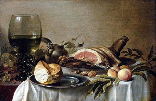 Het Museum Outlet - Ontbijt met ham - 1647 - Poster Print Online (24 x 18 Inch)