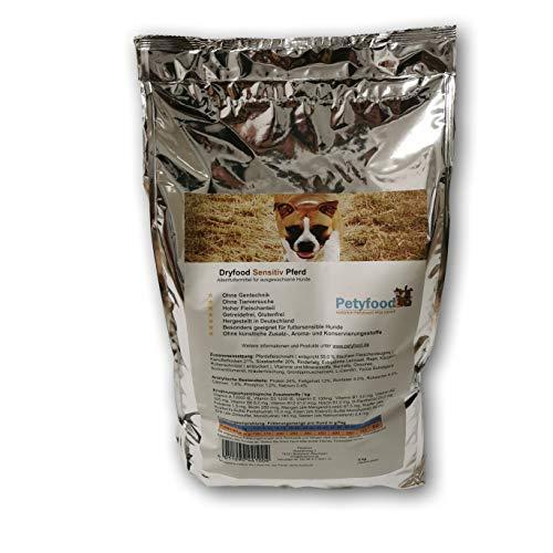 Petyfood Dryfood Sensitiv Pferd Trockenfutter - Hundefutter trocken Getreidefrei 5Kg