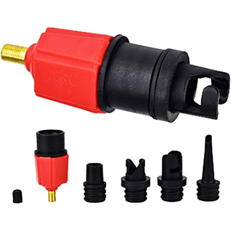 Inflatable Boat SUP Pump Adaptor Standard Air Valve Attachment Inflatable Boat Pump Valve Adapter Air Inflator Valve Adapter Accessory for Inflatable Rowing Boat Stand Up Kayak Paddle Board