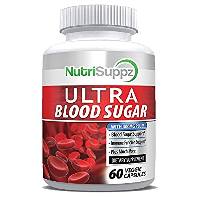 Natural Ultra Blood Sugar Supplement - Helps Support Healthy Blood Sugar & Glucose Levels - Immune System, Heart, Pancreas, Diabetic, Glucose, Insulin with Bitter Melon, Licorice Root, Cayenne Pepper