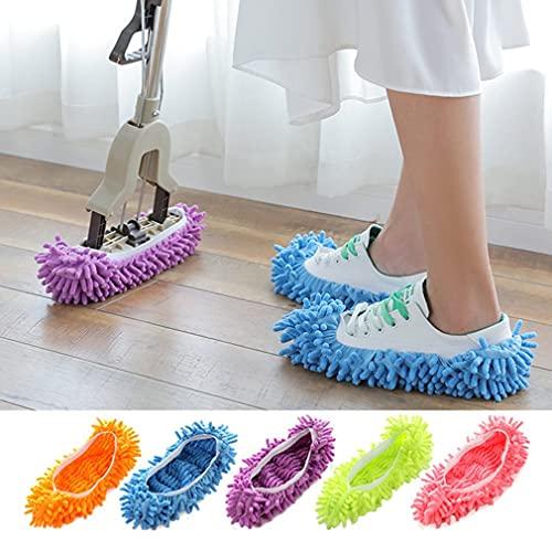 YYSD Limpiador multifunción para el hogar, mopa, Zapatillas de Trapo, Funda para Zapatos, Suave, extraíble, Lavable, para Limpiar el Suelo, Zapatillas para Mujer y Hombre